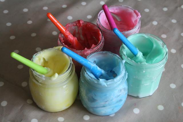 Pintura de dedos hecha en casa y no tóxica