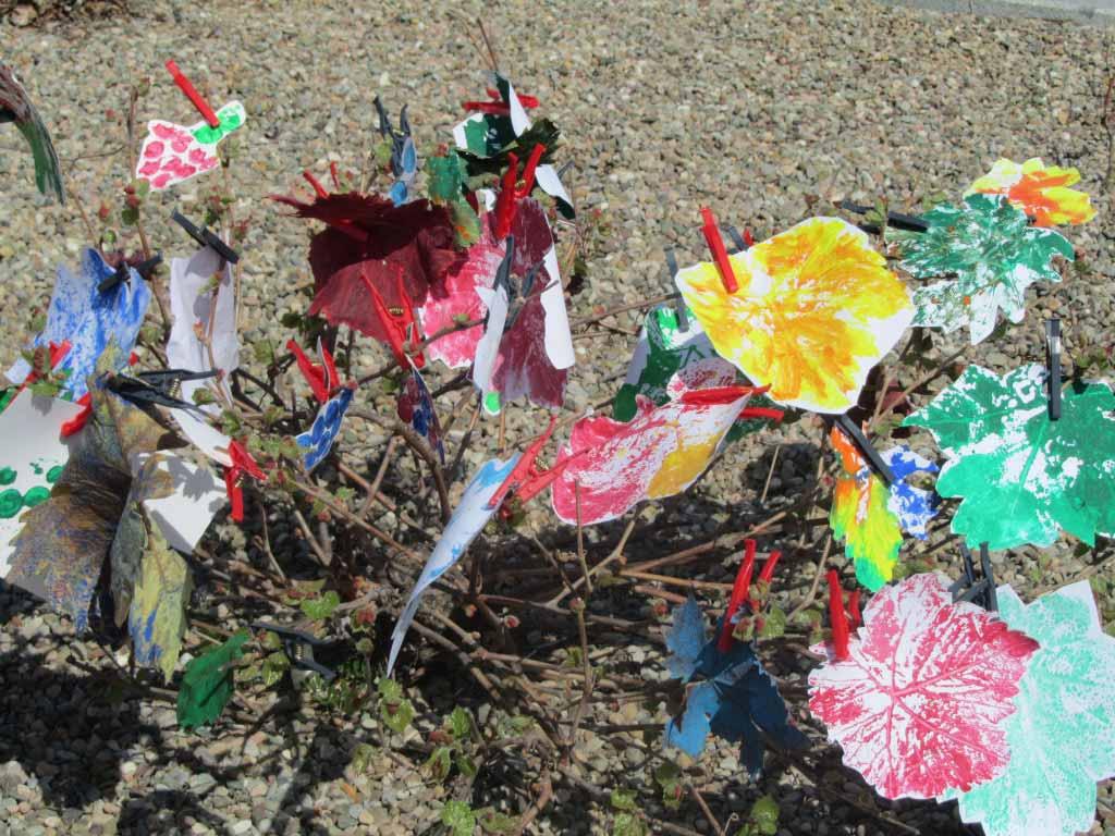 Las hojas de la viña, protagonista de los talleres de Vivanco Kids