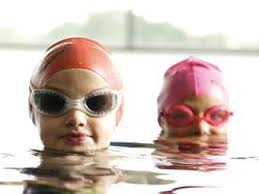A la piscina, también en invierno