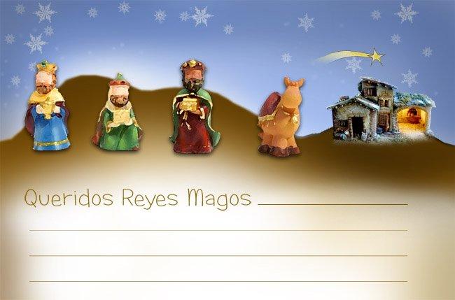 Diseña tu carta para los Reyes