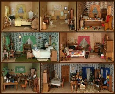 Exposición de casas de muñecas