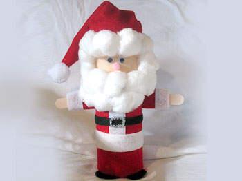 Papá Noel con materiales reciclados