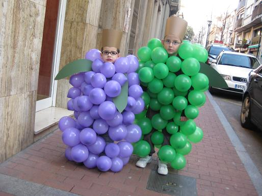 disfraz racimo uvas