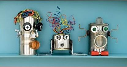 Manualidad: robot de hojalata