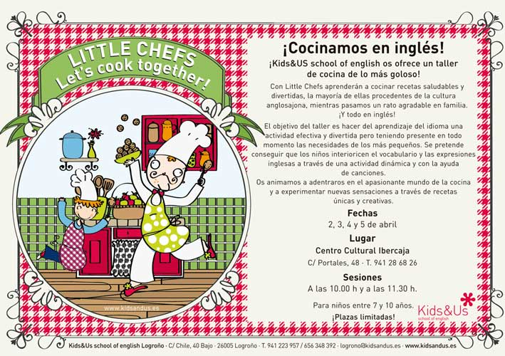 Talleres de cocina en inglés