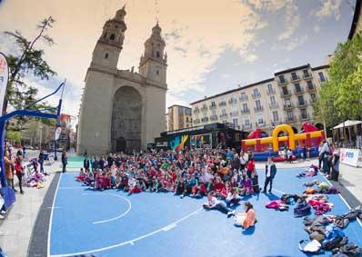 Road show de baloncesto en Logroño