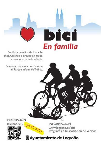 bici en familia logroño
