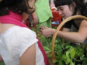 Taller de plantación con niños