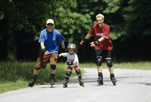 Salida popular en patines