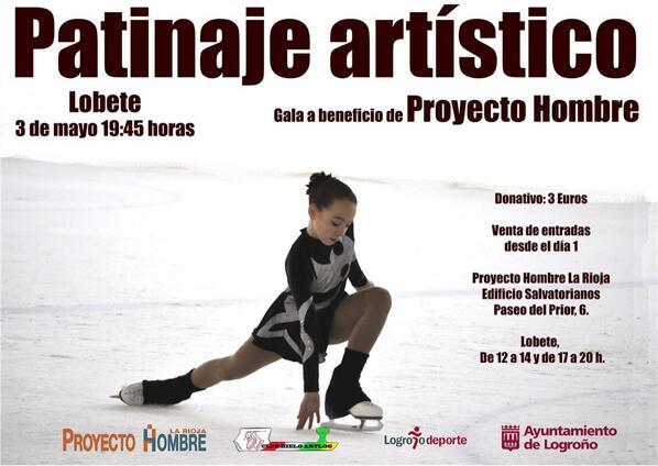 Exhibición de patinaje artístico