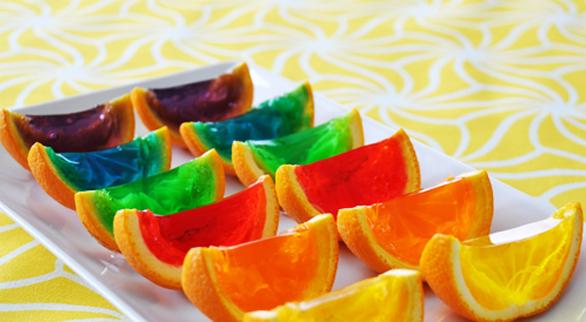 gelatina con naranjas