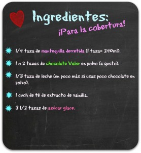 Ingredientes cobertura