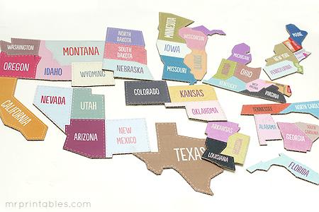 4 de julio: mapa para aprender los Estados Unidos
