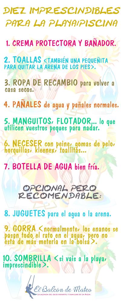 10 imprescindibles para la playa/piscina