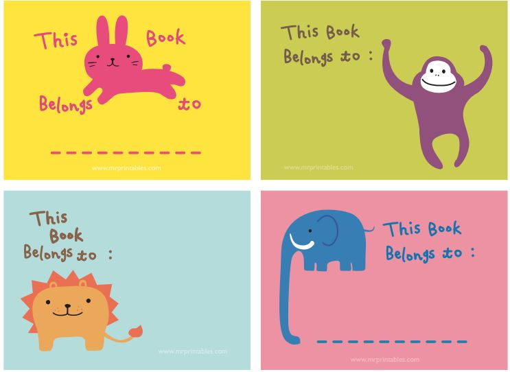 Pegatinas Para Libros Y Cuadernos Para Imprimir