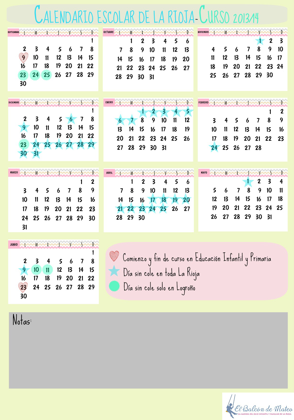 Calendario Escolar La Rioja 2013-2014