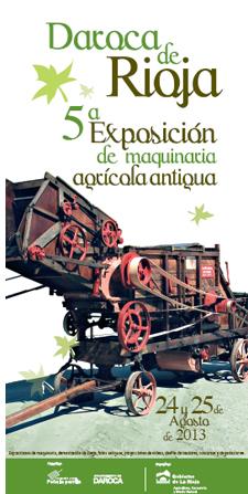 Exposición de maquinaria agrícola antigua en Daroca