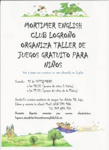 taller gratuito de inglés Mortimer