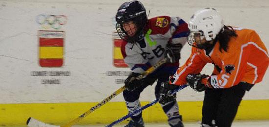 Festival nacional Sub-9 de hockey hielo en Lobete