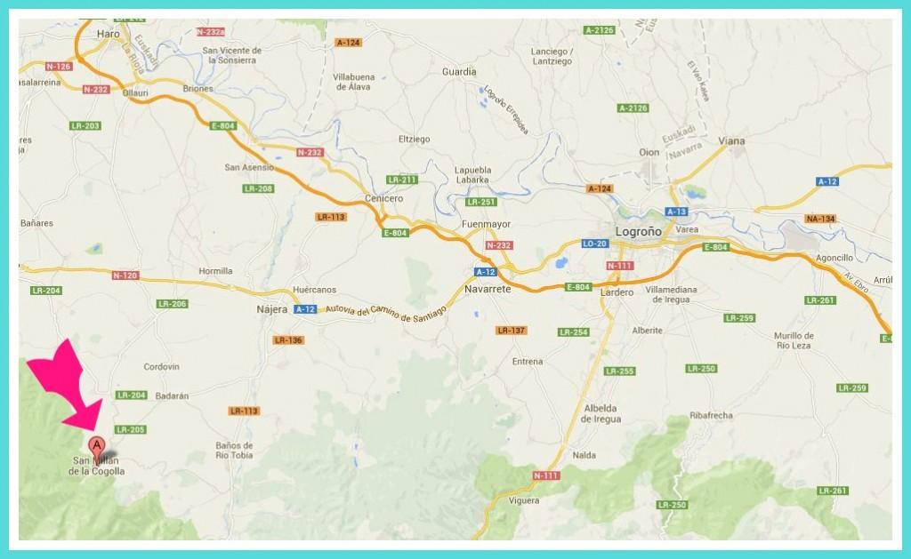 Mapa San Millan de la Cogolla