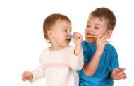 A los tres años, al dentista