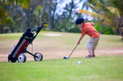El golf sí es deporte para niños