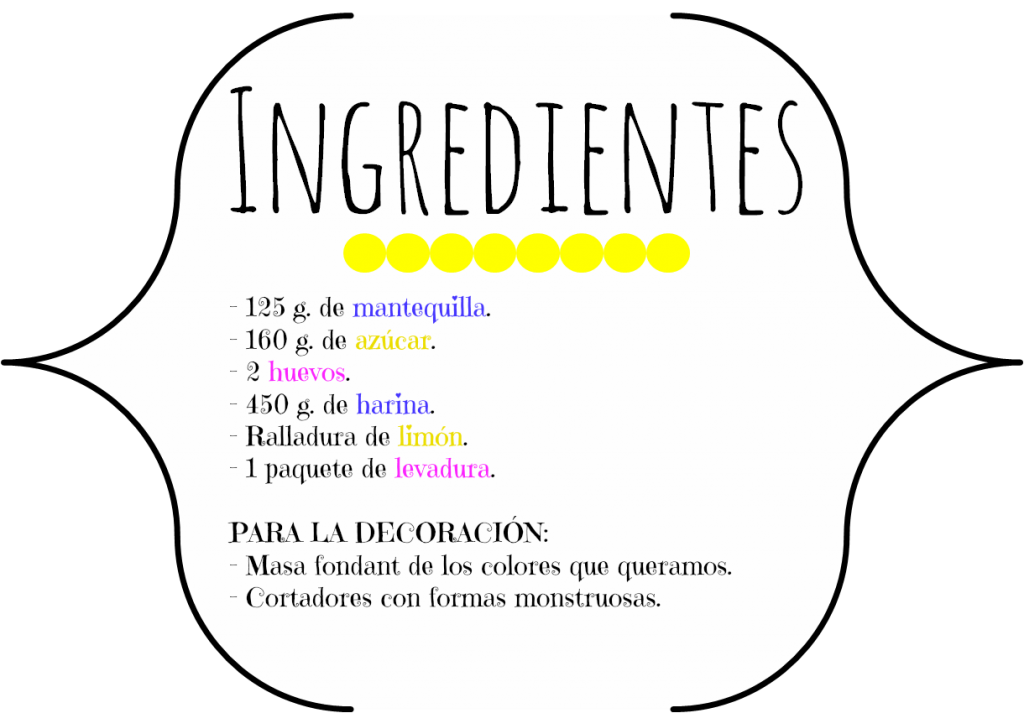 Ingredientes galletas Halloween