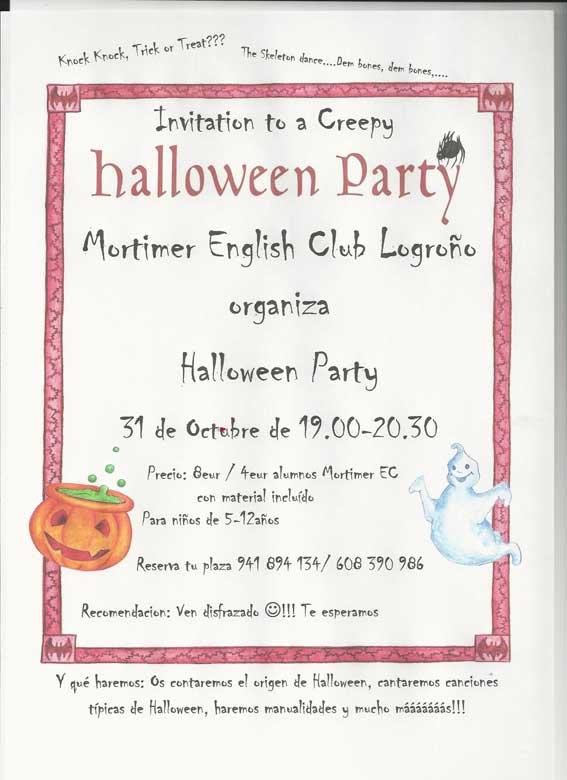 Fiesta Halloween en Mortimer.