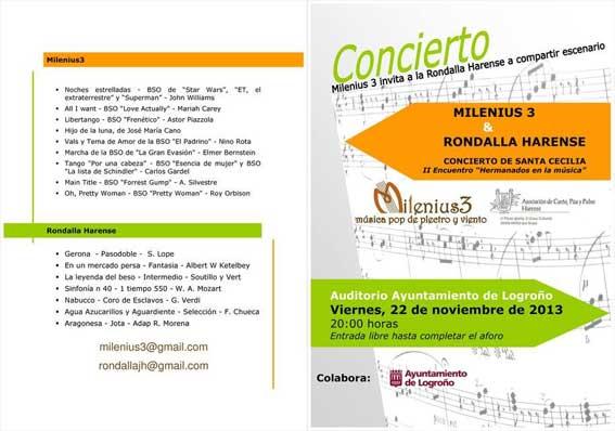 Milenius Tres concierto por Santa Cecilia en Logroño