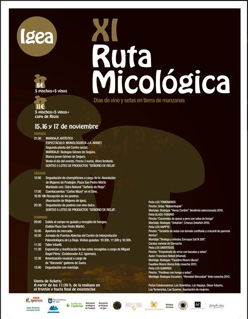 Jornadas micologicas en Igea