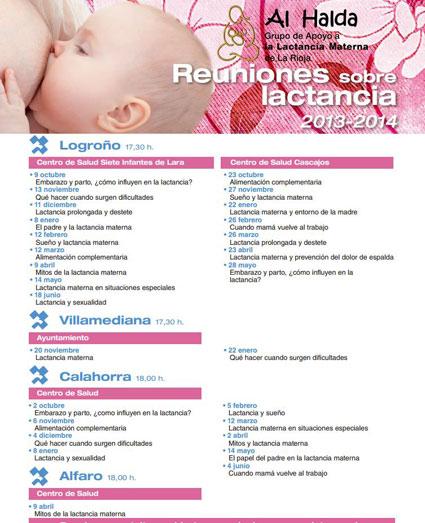 reuniones lactancia materna Logroño con Al halda 2013-2014
