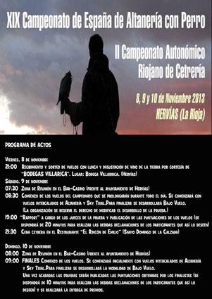 Campeonato regional de Cetreria La Rioja Hervias
