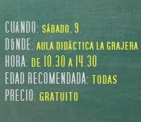 Taller infantil percusion aula didactica la grajera Logroño