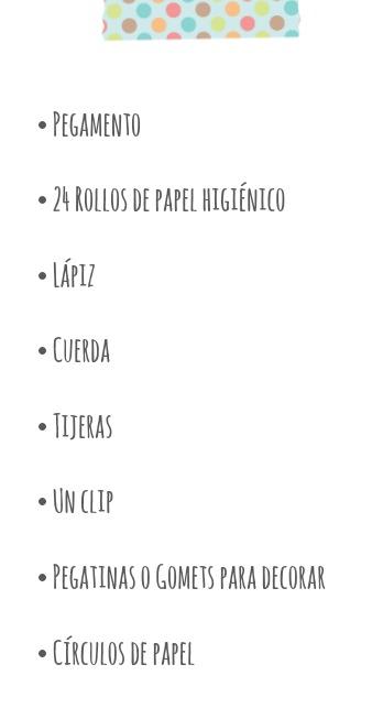 material calendario de adviento