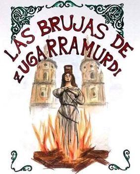 Representacion de la quema de las brujas de Zugarramurdi en Logroño