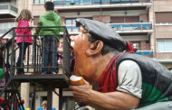 Cabezudos y tragantua en la Patrona de Logroño