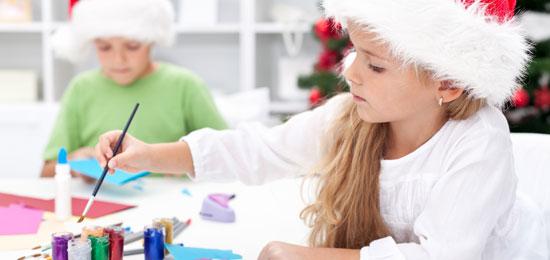 Taller infantil de decoración navideña