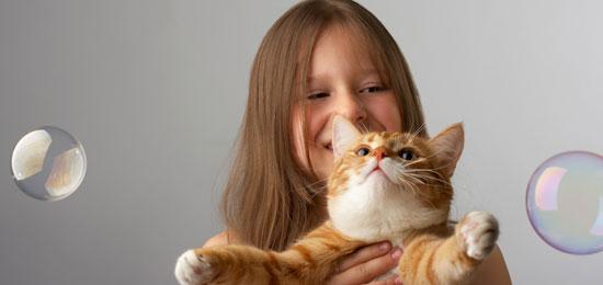 Los gatos, una niñera de excepción