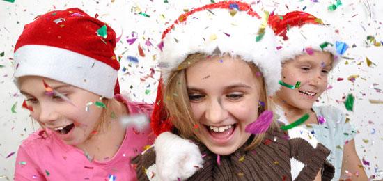 Papá Noel en la fiesta de Navidad de Valdegastea