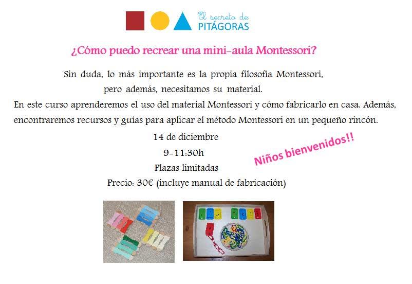Taller Montessori casero