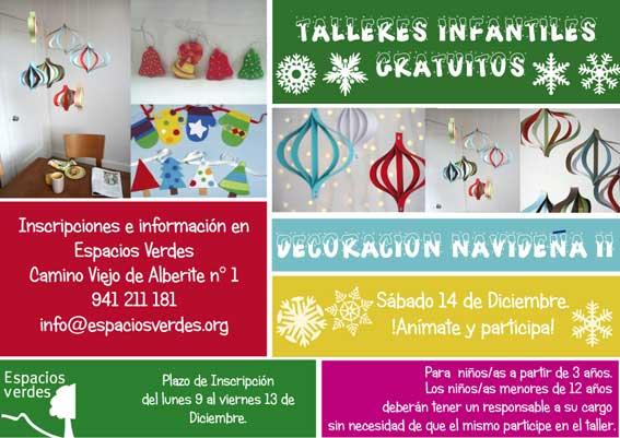 Talleres decoracion navideña Espacios Verdes
