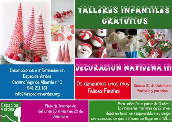 Taller de decoraci n navide a en espacios verdes el - Espacios verdes logrono ...