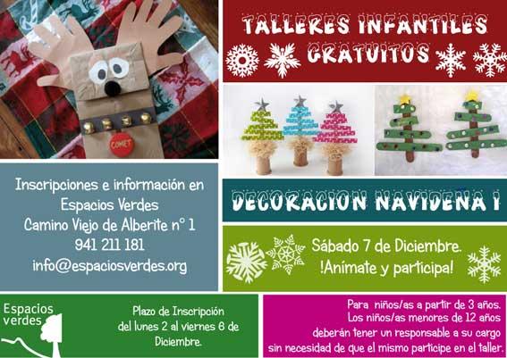 Taller decoracion navideña en Espacios Verdes