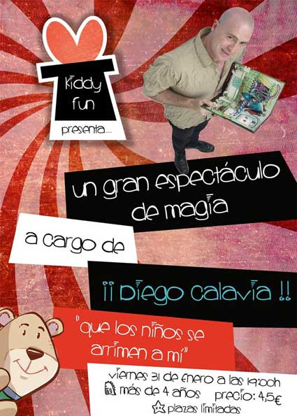 Espectaculo magia kiddy fun con Diego Calavia