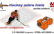 Partido solidario de hockey hielo