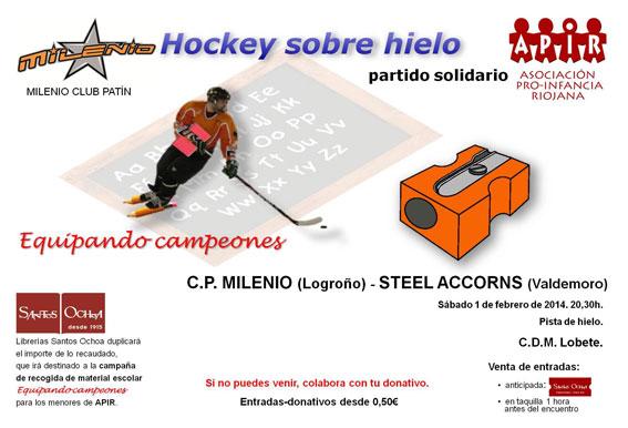 Partido-solidario-hockey-milenio