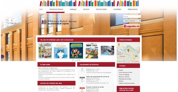 Web Biblioteca Rafael Azcona