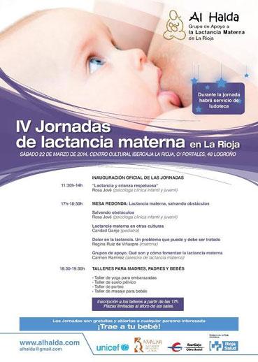 Cartel Jornadas lactancia materna Al halda