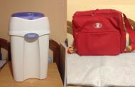 Se vende: contenedor de pañales y bolso cambiador