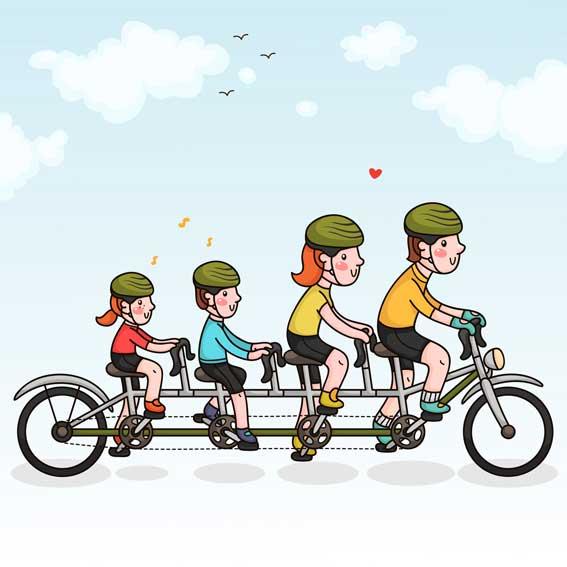 Bicicletas y casco
